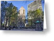 Spring In Philadelphia - Rittenhouse Square Greeting Card