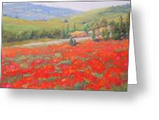 Spring In Tuscany Greeting Card