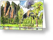 Spring In Yosemite Greeting Card