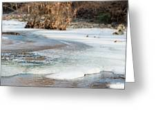 Spring Is Coming. The Ice Melts. Greeting Card
