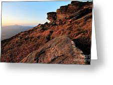 Spring Landscape, Gritstone Rock Formations, Stanage Edge Greeting Card