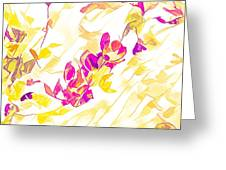 Spring Light Abstract Greeting Card