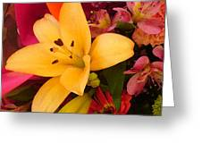 Spring Lily Bouquet Greeting Card