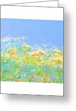 Spring Meadow Abstract Greeting Card