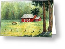 Spring Meadow Painting by Rebecca Davis
