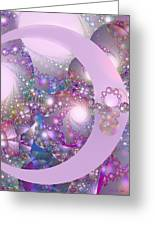 Spring Moon Bubble Fractal Greeting Card