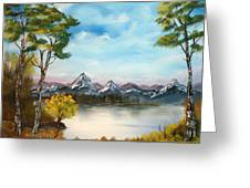 Spring Morning By The Lake Greeting Card