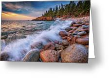 Spring Morning In Acadia National Park Greeting Card