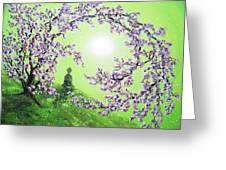 Spring Morning Meditation Greeting Card by Laura Iverson