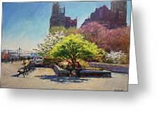 Spring Morning On John Finley Walk Greeting Card