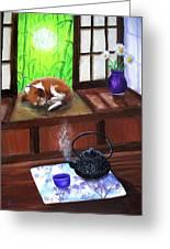 Spring Morning Tea Greeting Card