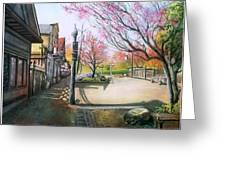 Spring On Clarke Street Port Moody Greeting Card