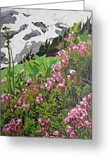 Spring On Mount Rainier Greeting Card