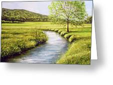 Spring On The Canal Greeting Card