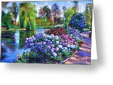 Spring Park Greeting Card by David Lloyd Glover