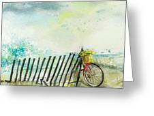 Bicycle Ride. Mayflower Storm. Greeting Card