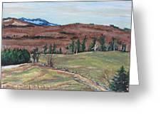 Spring Piopolis Rd Val Racine Quebec Canada Greeting Card