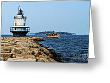 Spring Point Ladge Lighthouse - Maine Greeting Card