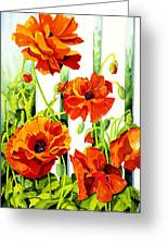 Spring Poppies Greeting Card by Janis Grau