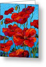 Spring Poppies Greeting Card
