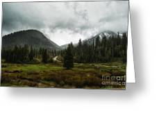 Spring Rain In The Wasatch Greeting Card