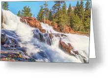 Spring Runoff At Glen Alpine Falls Greeting Card