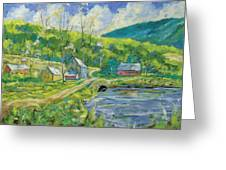 Spring Scene Greeting Card