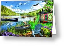 Spring Serenity At Lakeside Greeting Card