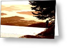Spring Skiing Greeting Card