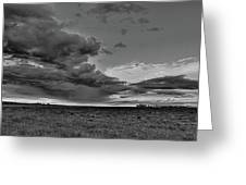 Spring Storm Front In Black And White Greeting Card