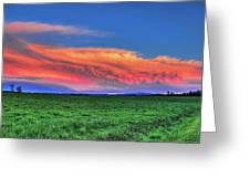 Spring Storm Over Wausau Greeting Card