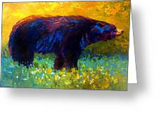 Spring Stroll - Black Bear Greeting Card