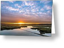 Spring Sunrise On Arcata Bay Greeting Card