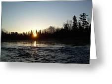 Spring Sunrise Over Mississippi River Greeting Card