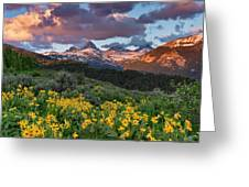 Spring Sunset In The Tetons Greeting Card
