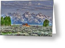 Spring Teton Barn  Greeting Card by David Armstrong