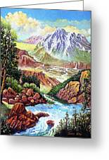 Spring Thaw High In The Rockies. Greeting Card