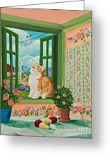 Spring Through My Window Greeting Card