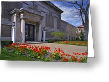 Spring Time At The Muskegon Museum Of Art Greeting Card