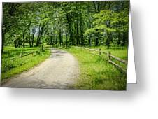 Spring Time In Rural Ohio Greeting Card