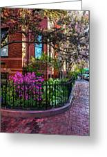 Spring Time In The City Greeting Card