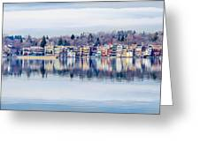 Spring Time Waterfront Greeting Card