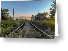 Spring Train Rails Greeting Card