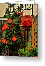 Spring Trellis Greeting Card by Helen Carson
