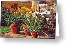 Spring Tulips And White Azaleas Greeting Card