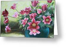 Spring Tulips Greeting Card