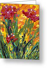 Spring Tulips Triptych Panel 1 Greeting Card