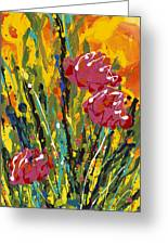 Spring Tulips Triptych Panel 2 Greeting Card