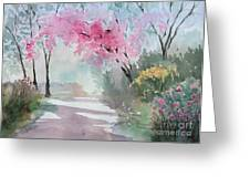 Spring Walk Greeting Card