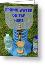 Spring Water On Tap Here Greeting Card